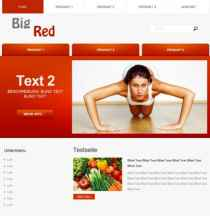Webdsign Template Big Red -