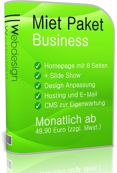 Webdesign Paket Mieten Business