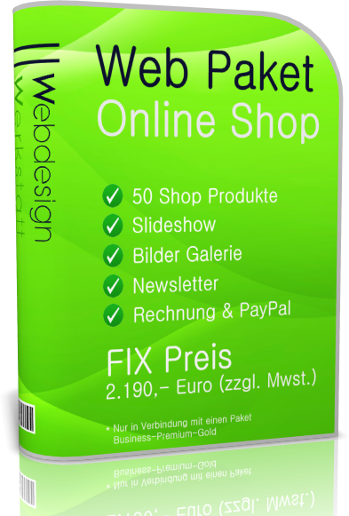 Webdesign Paket Online Shop