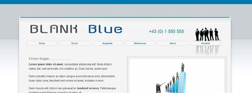 Neues Template Blank Blue