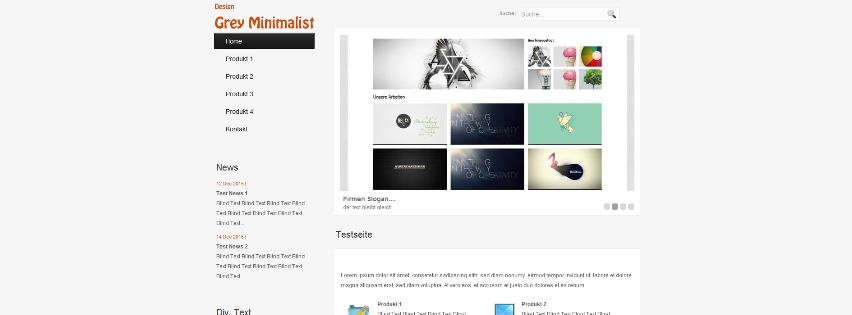 Webdesign Template Grey Minimalist